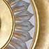 medallion with gold and silver-close-up